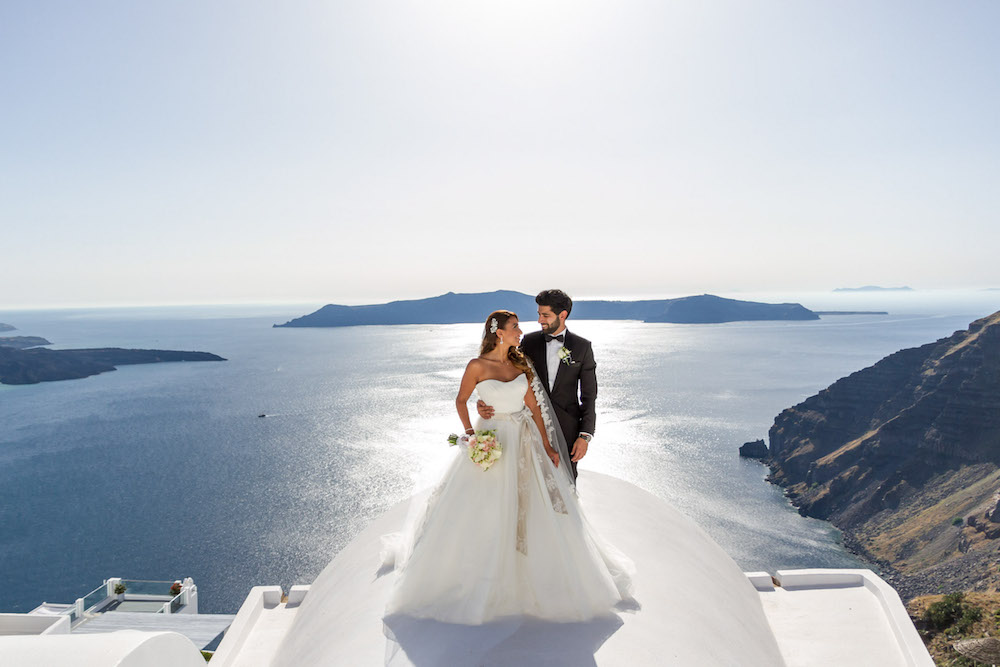 rania and rabih destination wedding in santorini at dana villas